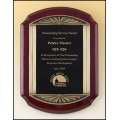 P4137  Rosewood stained finish antique plaque